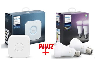 PHILIPS HUE Bridge AppleHomeKit + 2db Philips HUE White and Color Ambiance izzó