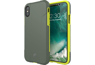 ADIDAS Performance Solo Case iPhone X Handyhülle, Grau/Gelb