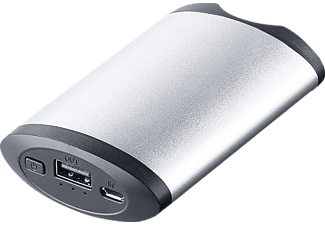 XLAYER PLUS, Powerbank, 5200 mAh, Silber
