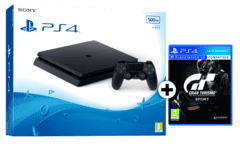 SONY PlayStation 4 500GB E Black + GT SPORT D1