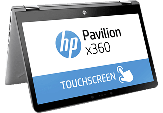 HP 14-ba170ng, Convertible mit 14 Zoll, 1 TB Speicher, 8 GB RAM, Core™ i5 Prozessor, Windows 10 Home, Silber