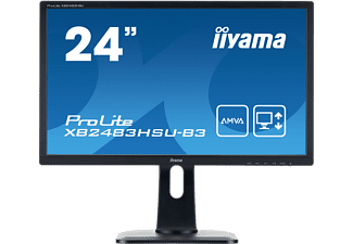 Iiyama XB2483HSU-B3-24 LED HDMI DVI-D 4ms black 1  computer monitor