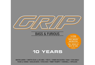 VARIOUS - GRIP Bass & Furious 10 Years - (CD)