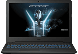 MEDION ERAZER® P6679, Gaming Notebook mit 15.6 Zoll Display, Core™ i5 Prozessor, 8 GB RAM, 128 GB SSD, 1 TB HDD, GeForce GTX 950M, Black Rubber