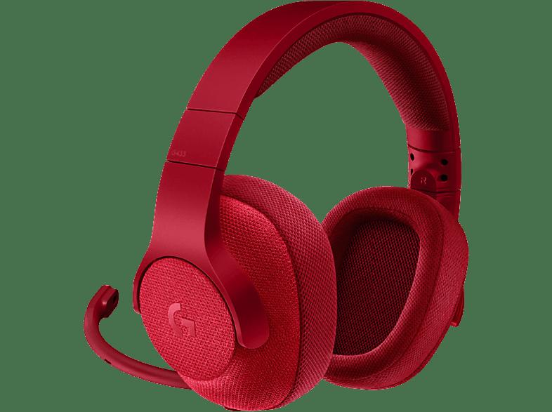 LOGITECH G433 Gaming Headset Red gaming απογείωσε την gaming εμπειρία ακουστικά gaming