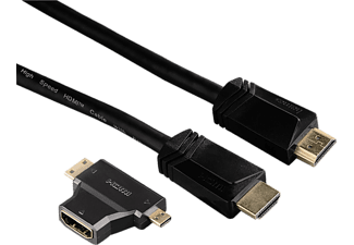 HAMA 122227 High Speed HDMi kábel, ethernet + adapter