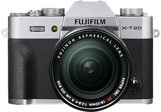 FUJI FILM X-T20 + XF 18-55 mm ezüst Kit