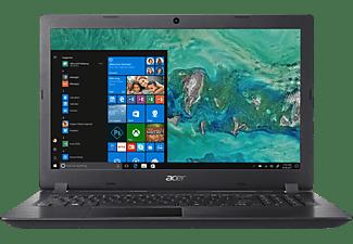 ACER Aspire 3 (A315-51-388S), Notebook mit 15.6 Zoll Display, Core™ i3 Prozessor, 4 GB RAM, 1 TB HDD, HD-Grafik 520, Schwarz