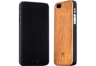 WOODCESSORIES EcoCase Classic Backcover Apple iPhone 5, 5s, SE Kirsch/Echtholz Braun/Schwarz