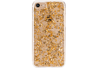 FLAVR iPlate Flakes iPhone 6/6s/7/8 Handyhülle, Transparent, Gold