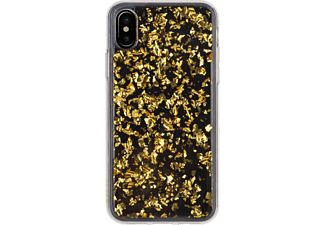 FLAVR iPlate Flakes iPhone X Handyhülle, Transparent, Gold