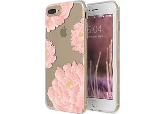 FLAVR IPLATE PINK PEONIES iPhone 6+, 7+, 8+ Handyhülle, Transparent/Pink