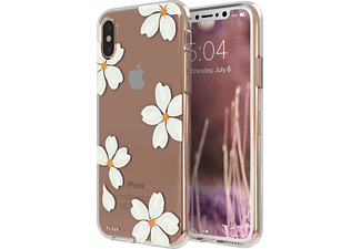 FLAVR IPLATE WHITE PETALS iPhone X Handyhülle, Transparent