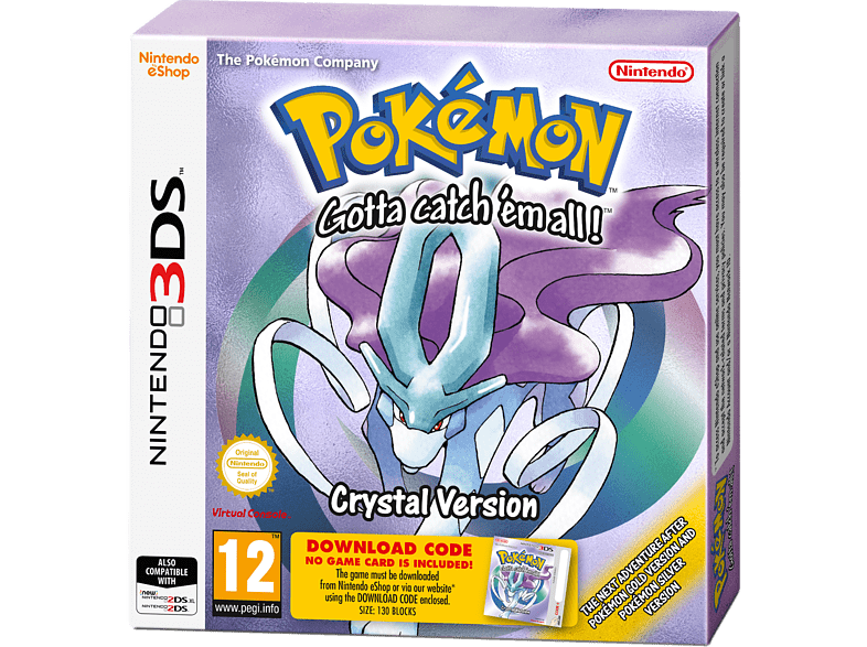 Pokemon Crystal (Voucher) Nintendo 3DS gaming φορητές κονσόλες games 2ds  3ds