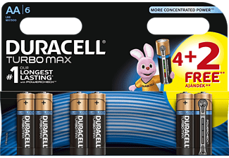 DURACELL TURBO MAX 4+2DB AA ELEM-DL