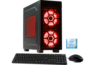 HYRICAN STRIKER 5658 RED I7-7700/16GB/240GB SSD+2TB, Gaming PC mit Core™ i7 Prozessor, 16 GB RAM, 240 GB SSD, 2 TB HDD, Geforce® GTX 1070 Ti, 8 GB GDDR5 Grafikspeicher