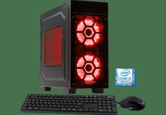 HYRICAN Striker 5647 Red, Gaming PC mit Core™ i5 Prozessor, 8 GB RAM, 120 GB SSD, 1 TB HDD, Geforce® GTX 1050 Ti, 4 GB GDDR5 Grafikspeicher