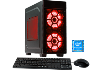 HYRICAN STRIKER 5644 RED G4600/8GB/1TB, Gaming PC mit Pentium® Prozessor, 8 GB RAM, 1 TB HDD, Geforce® GTX 1050 Ti, 4 GB GDDR5 Grafikspeicher