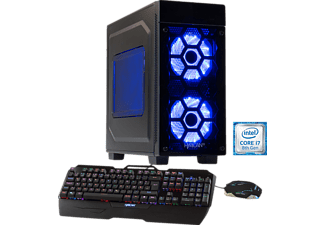 HYRICAN STRIKER-X 5764 BLUE, Gaming PC mit Core™ i7 Prozessor, 16 GB RAM, 240 GB SSD, 2 TB HDD, GeForce® GTX 1080 Ti, 11 GB GDDR5 Grafikspeicher
