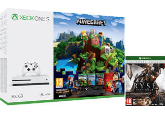 Xbox One S 500GB + Minecraft + Minecraft Complete Adventure + Ryse Legendary Edition