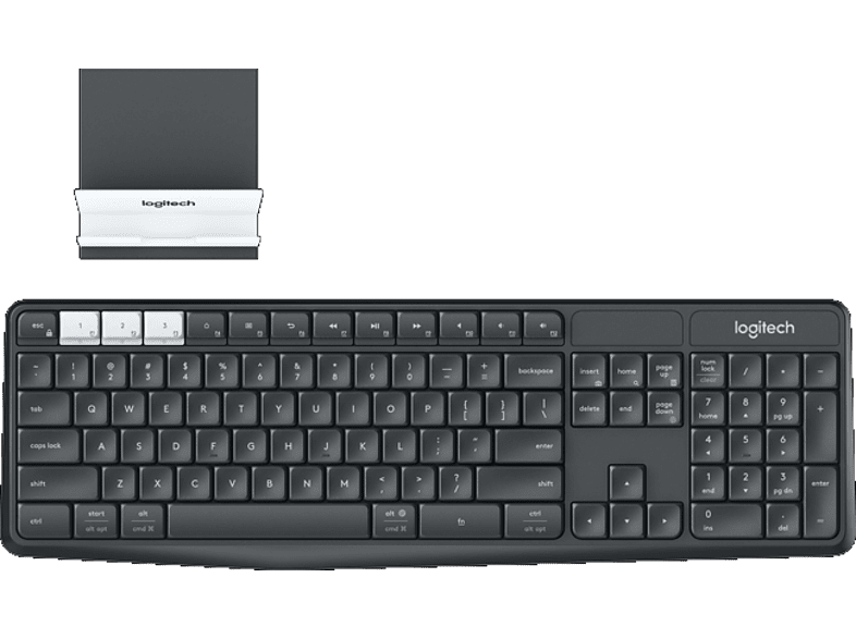 LOGITECH K375s Multi-Device Wireless Keyboard and Stand Combo laptop  tablet  computing  περιφερειακά πληκτρολόγια   ποντίκια
