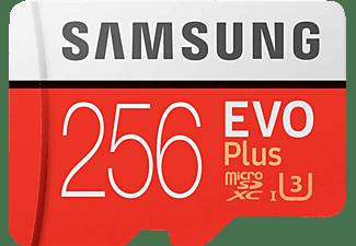 SAMSUNG Evo Plus, 256 GB, Micro-SDXC, Speicherkarte, 100 MB/s