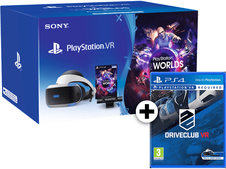 SONY PlayStation VR Headset and Camera V2 and VR Worlds and DriveClub gaming απογείωσε την gaming εμπειρία αξεσουάρ ps4