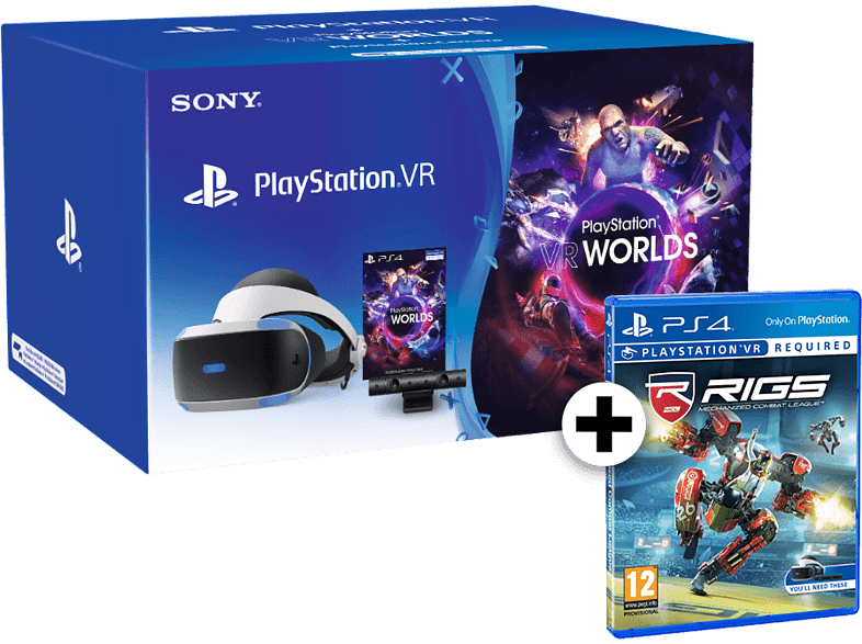 SONY PlayStation VR Headset and Camera V2 and VR Worlds and RIGS Mechanized Comb gaming απογείωσε την gaming εμπειρία αξεσουάρ ps4