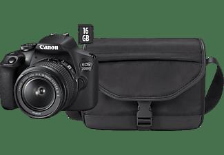CANON EOS 2000D + 18-55mm + 16GB + draagtas + reinigingsdoekje