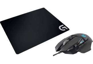 LOGITECH G502 Proteus Spectrum Bundle Gaming Maus + Gaming Mauspad, Schwarz