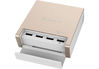 ADAM ELEMENTS OMNIA PA401- Intelligent 4-in-1 USB, Tischladestation, Gold