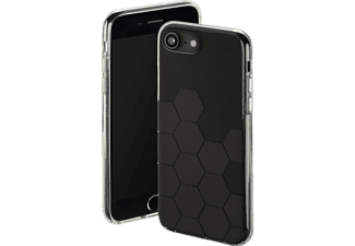 HAMA Hexagon Backcover Apple iPhone 6, iPhone 6s, iPhone 7, iPhone 8 Thermoplastisches Polyurethan Anthrazit/Schwarz