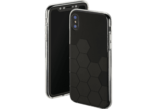 HAMA Hexagon Backcover Apple iPhone X Thermoplastisches Polyurethan Anthrazit/Schwarz