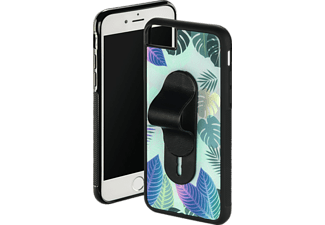 HAMA Tropical Backcover Apple iPhone 6, iPhone 6s, iPhone 7, iPhone 8 Glas/Kunststoff/Thermoplastisches Polyurethan Grün/Schwarz/Transparent