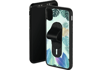 HAMA Tropical Backcover Apple iPhone X Glas/Kunststoff/Thermoplastisches Polyurethan Grün/Schwarz/Transparent