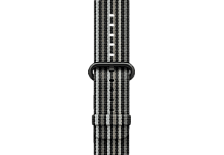 APPLE Nylon, Armband, Apple, Watch 38 mm, Black Stripe Woven