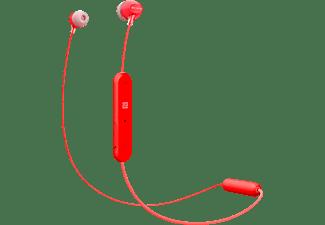 Sony WI-C300 Koptelefoon In Ear Bluetooth Rood Headset