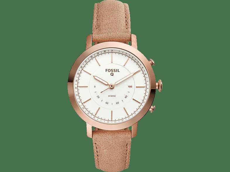 FOSSIL--FTW5007-Q-Neely-Hybrid-Smartwatch-Edelstahl-Leder--190-mm--Rosegold
