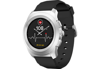 MYKRONOZ  ZeTime Regular Original Brushed Hybrid Smartwatch Silikon, 210 mm, Silber/Schwarz