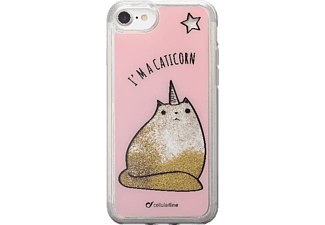 CELLULAR LINE Stardust Hardcover Leo Backcover Apple iPhone 7 Thermoplastisches Polyurethan Ausführung Caticorn