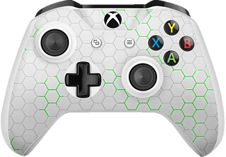 EPIC SKIN Xbox One S Controller Skin Sticker Nano Tech grün , Skin Sticker, Weiß/Grün