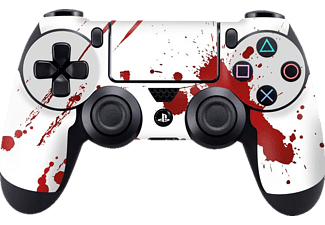 EPIC SKIN PS4 Controller Skin Sticker Zombie Blood , Skin Sticker, Weiß/Rot