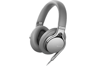 Sony MDR-1AM2 HiFi Oordopjes Over Ear Zilver Vouwbaar, High Resolution Audio, Headset, Ruisonderdruk