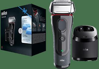 BRAUN Series 5 5050cc Elektrorasierer Limitierte Auflage mit Clean&Charge-Station, Rasierer, Schwarz/Rot