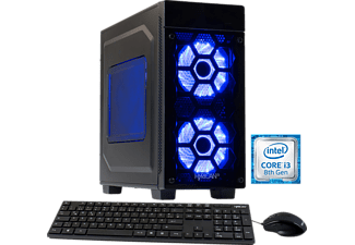 HYRICAN STRIKER 5865, Gaming PC mit Core™ i3 Prozessor, 8 GB RAM, 120 GB SSD, 1 TB HDD, Geforce® GTX 1050 Ti, 4 GB GDDR5 Grafikspeicher