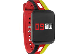 XLYNE KETO XW FIT - GERMANY EDITION + Schnell-Wechselarmband Schwarz/Rot, Fitness Armband, 20mm, Gehäuse: Schwarz   /   1. Armband: Schwarz / Rot / Gold   /   2. Armband: Schwarz / Rot