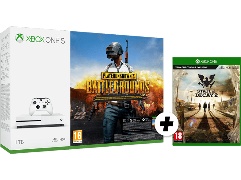 MICROSOFT Xbox One S 1TB Playerunknown's Battlegrounds and State of Decay 2 Token