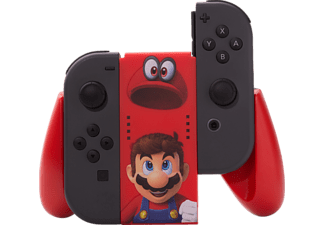 POWER A Nintendo Switch Joy-Con Comfort Grip - Mario Odyssey, Nintendo Switch Controller Adapter, Rot