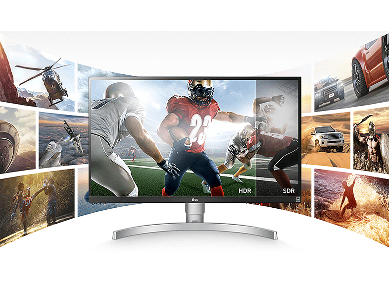 LG 27UK850-W 4K IPS fehér monitor (2xHDMI, DisplayPort, Type-C)