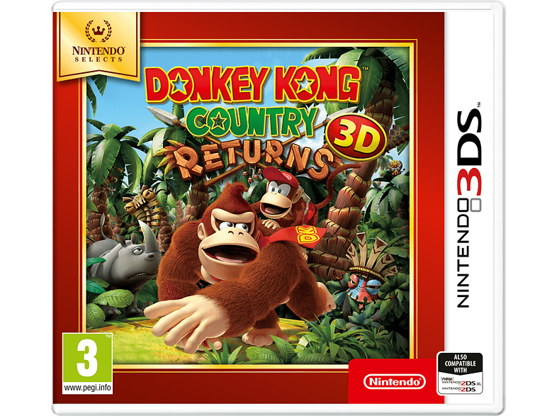 Donkey Kong Returns Selects Nintendo 3DS gaming games